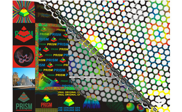 Honeycomb Tamper Evident Holographic Label